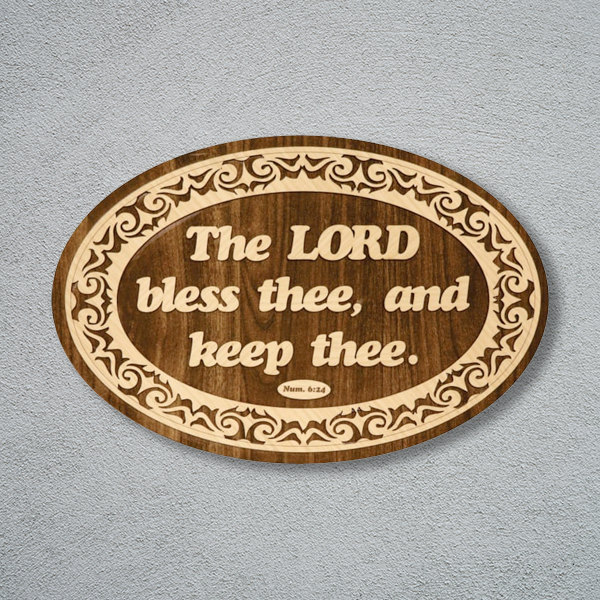 wooden-frame-16-12-theLordBlessThee